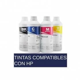 Tinta amarillo SCP para HP 200 ml tipo DYE