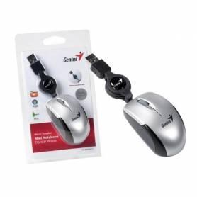 Mouse Rectractil Genius Micro Traveler Plata