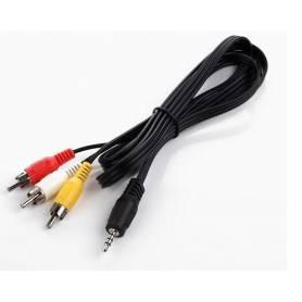 Cable de mini Plug stereo de 3 vias 2mts