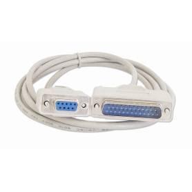 Cable serial de DB25M a DB9H p/ impre fiscal