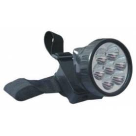 Linterna 7 LED minero (más 3 pilas PL7 DE REGALO !!!!)
