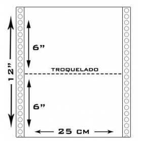 Resma 12 x 25 Plec 6 Formulario continuo 1000h 65grs