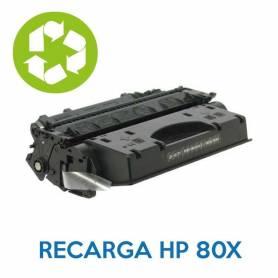 Recarga de toner HP 80X CF280X