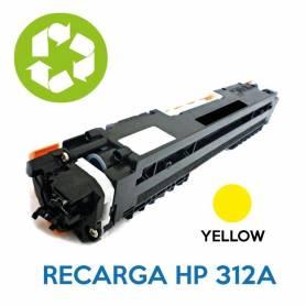 Recarga de toner HP CE312A 126A YELLOW
