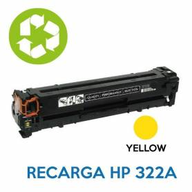 Recarga de toner HP CE322A 128A YELLOW