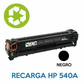 Recarga de toner HP CBE540A 125A NEGRO