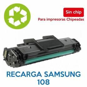 Recarga de toner SAMSUNG 108 sin chip MLT-D108