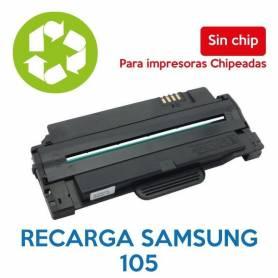 Recarga de toner SAMSUNG 105 sin chip MLT-D105