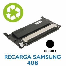 Recarga de toner SAMSUNG 406 NEGRO CLT-K406S