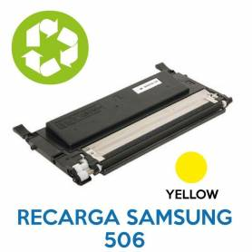 Recarga de toner SAMSUNG 506 YELLOW CLT-K506L
