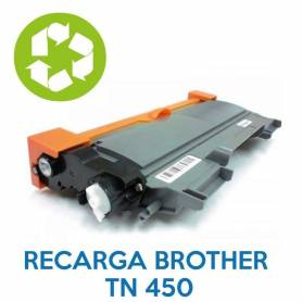 Recarga de toner BROTHER TN 450
