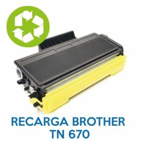 Recarga de toner BROTHER TN 670