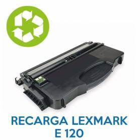 Recarga de toner LEXMARK E120