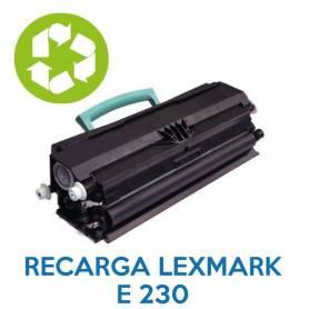 Recarga de toner LEXMARK E230