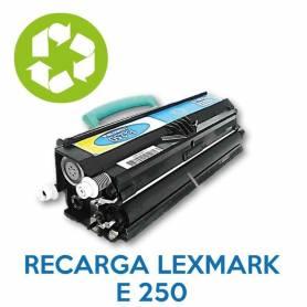 Recarga de toner LEXMARK E250