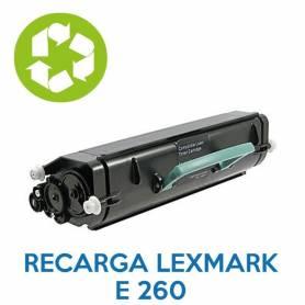 Recarga de toner LEXMARK E260