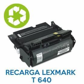 Recarga de toner LEXMARK T640