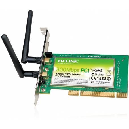 TL-WN851N Adaptador PCI inalámbrico N a 300 Mbps