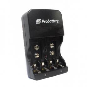 Cargador de 4 pilas y bateria de 9V Probattery