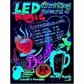 Pizarra LED fluorescente 60 x 40