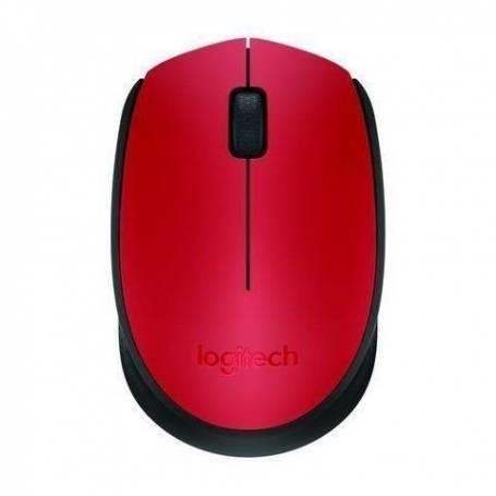 Mouse Logitech M170 Gris / ROJO Inalambrico