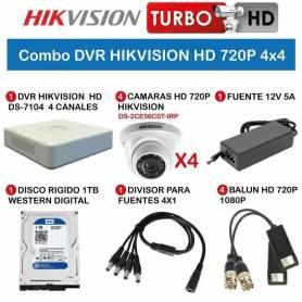 Combo DVR HIKVISION HD 720P 4x4