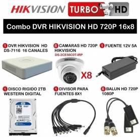 Combo DVR HIKVISION HD 720P 16x8