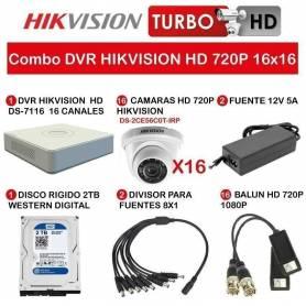 Combo DVR HIKVISION HD 720P 16x16