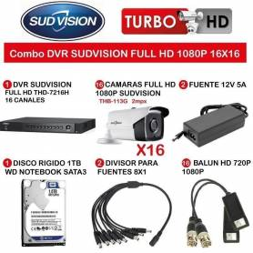 Combo DVR Sudvision Full HD 1080 16x16