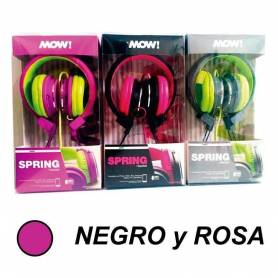 Auricular MOW SPRING MIX Negro / Rosa