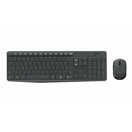 Teclado y Mouse Logitech MK235 Multimedia Inalambrico