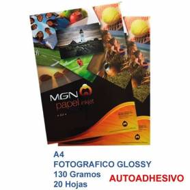 MGN  Papel Foto A4 130g Autoadhesivo 20 Hojas