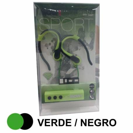 Auricular MOW BLUETOOTH in ear MW-S6BT verde y negro
