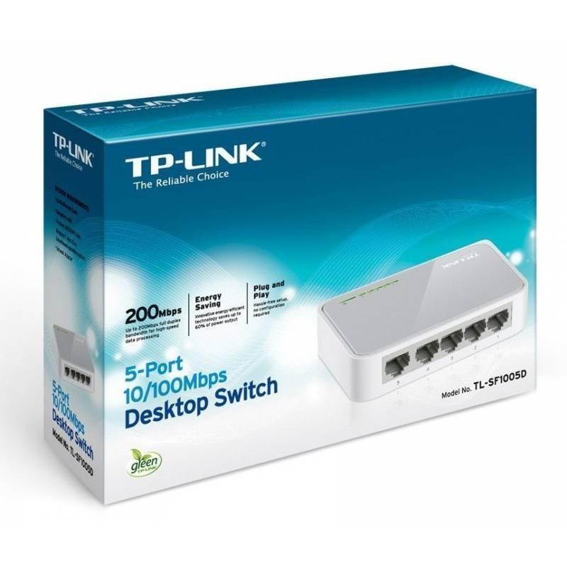 Switch TL-SF1005D de escritorio de 5 puertos 10/100