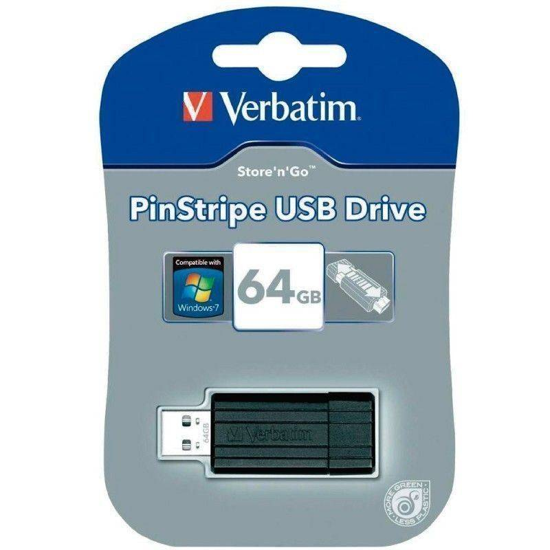 Pen Drive 64GB Verbatim PinStripe