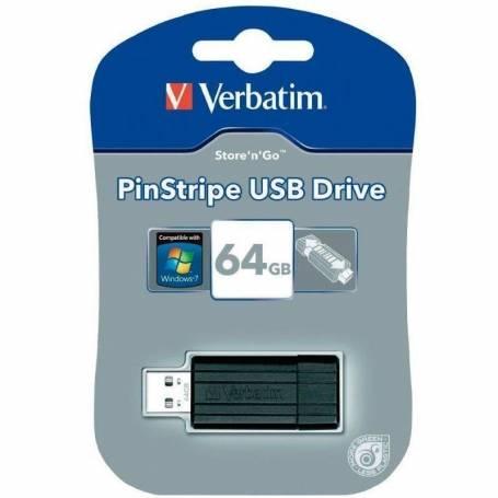 Pendrive 64GB Verbatim PinStripe 49065
