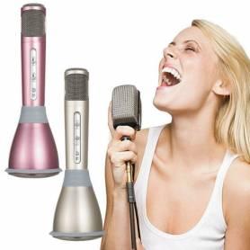 K-168 KTV Karaoke Micrófono de Mano Micrófono Altavoz Para Teléfono Bluetooth Inalámbrico