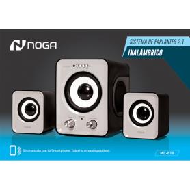 Parlante Noganet Inalambrico 2.1 ML-810 Gris