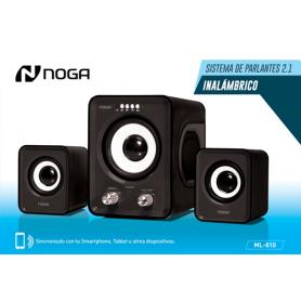 Parlante Noganet Inalambrico 2.1 ML-810 Negro