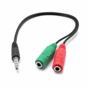 Cable adaptador de audio y microfono