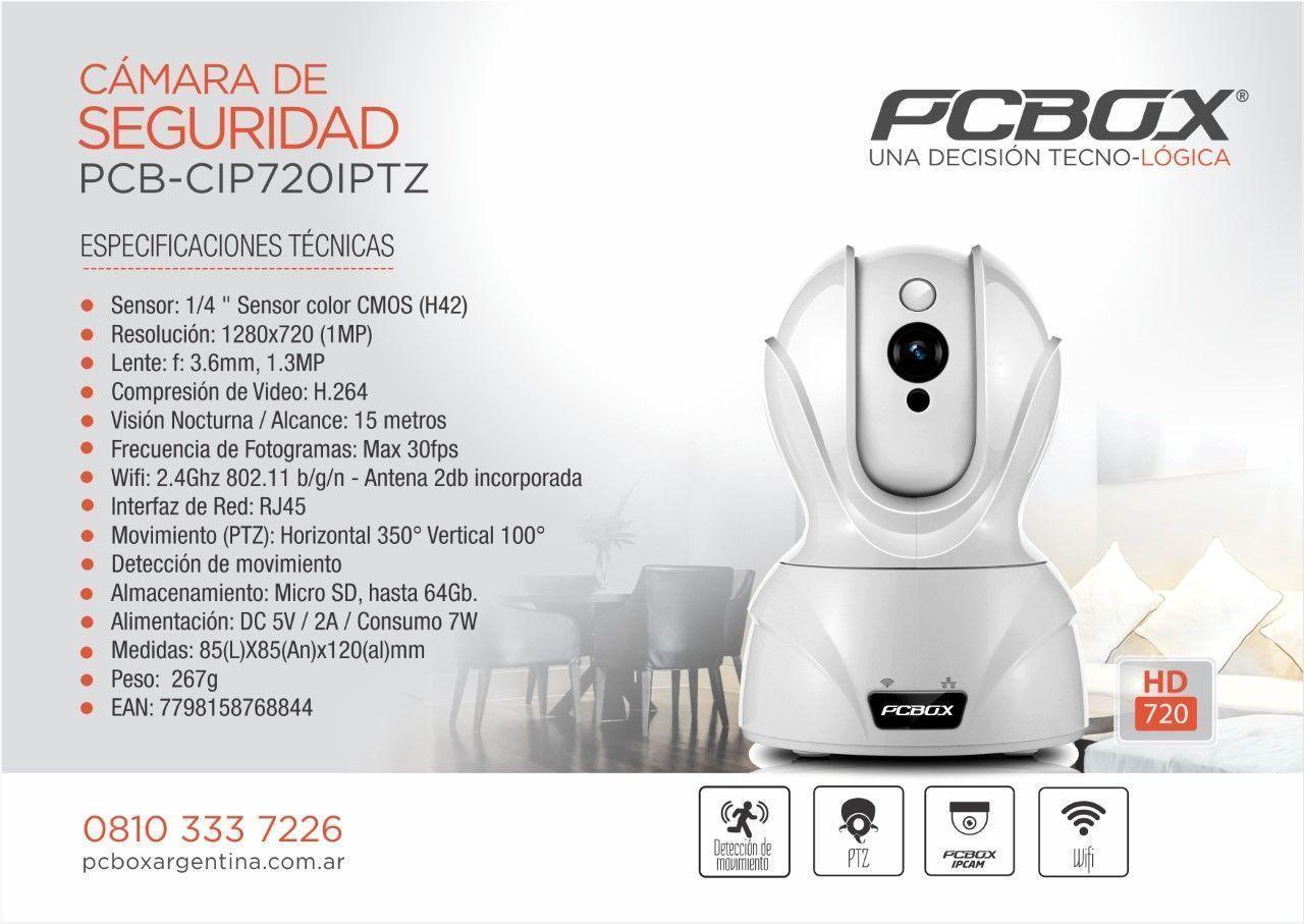 Camara de seguridad ip pcbox ptz resolucion hd 720p - Camara de seguridad wifi ...
